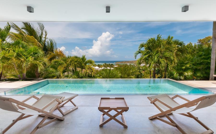 Panoramic view of Palm Villa